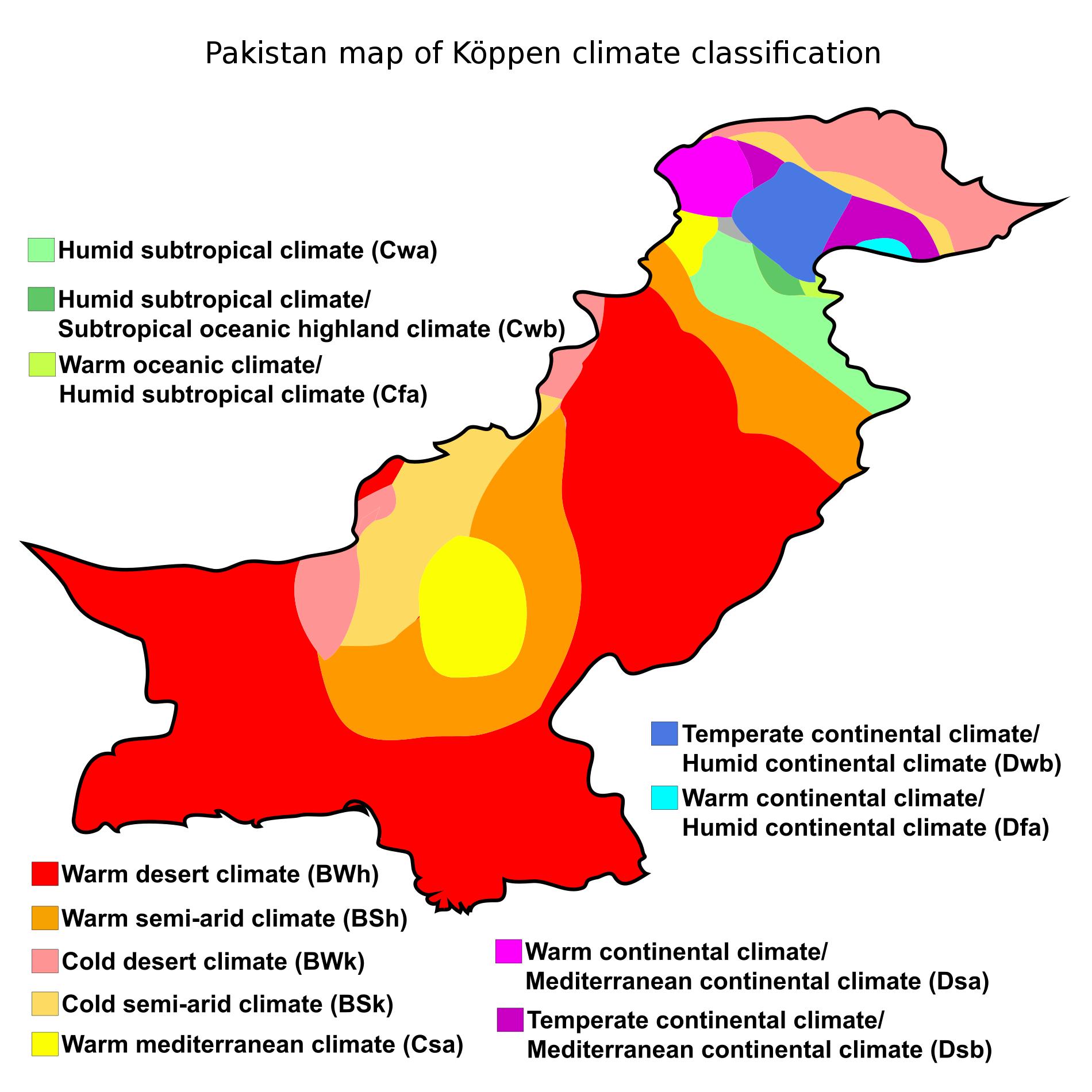 Map Mondays 2 0 14 Pakistan S Koppen Climate