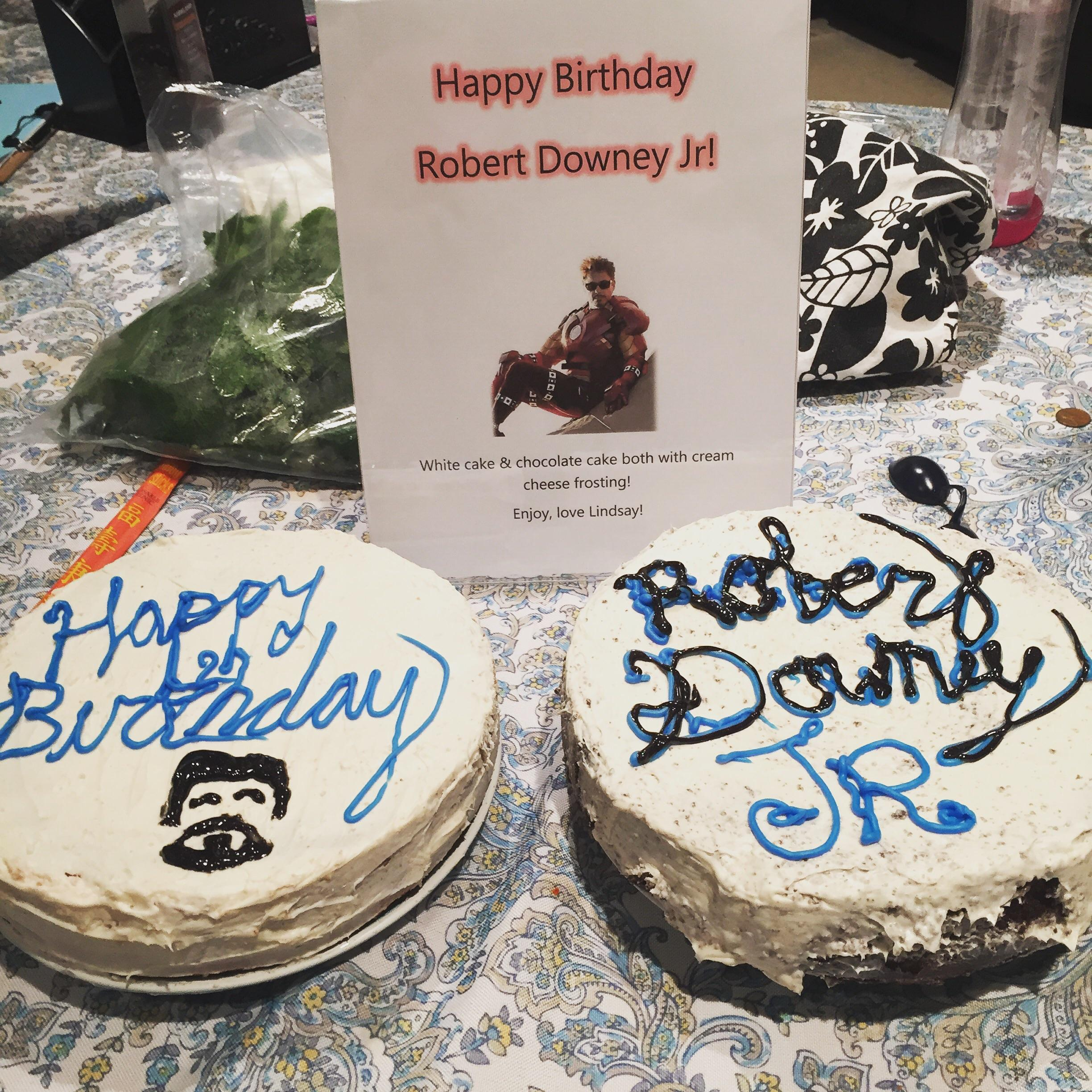 I Usually Make A Birthday Cake For Robert Every Year And Couldn T This Year So Here S One From A Few Years Ago I Made My Entire Workplace Celebrate With Me Happy Birthday