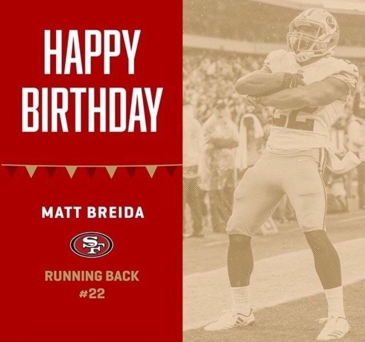Happy Birthday To Breida The Cheetah 49ers