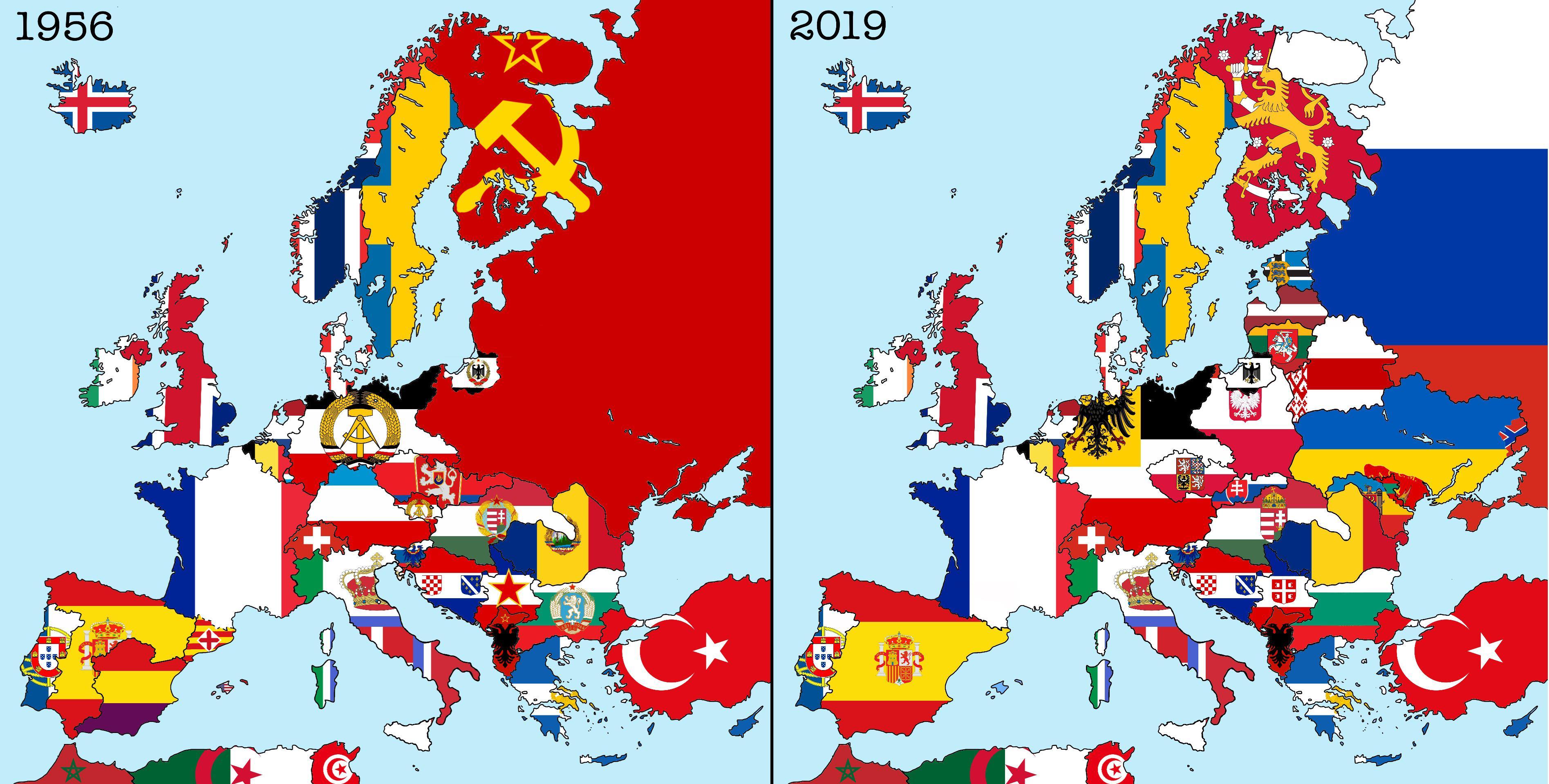 Flag Map Of My Alternative Cold War Scenario Imaginarymaps