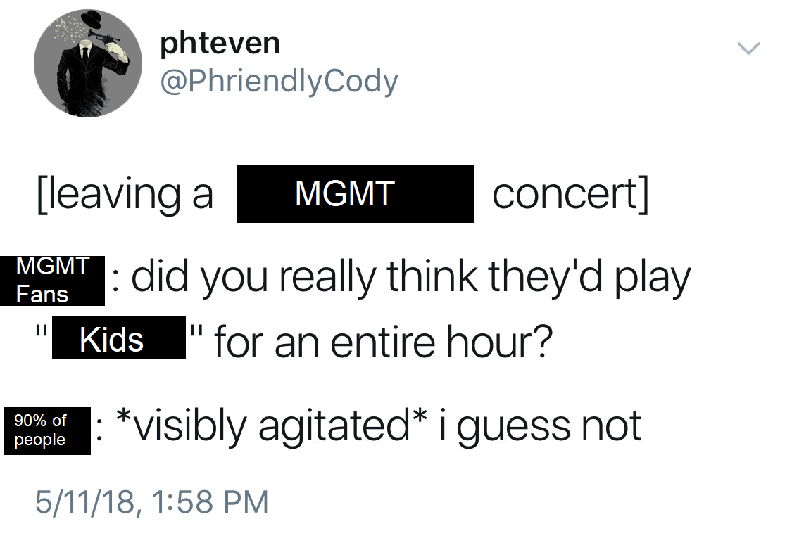 People Going To Mgmt Concerts Mgmt