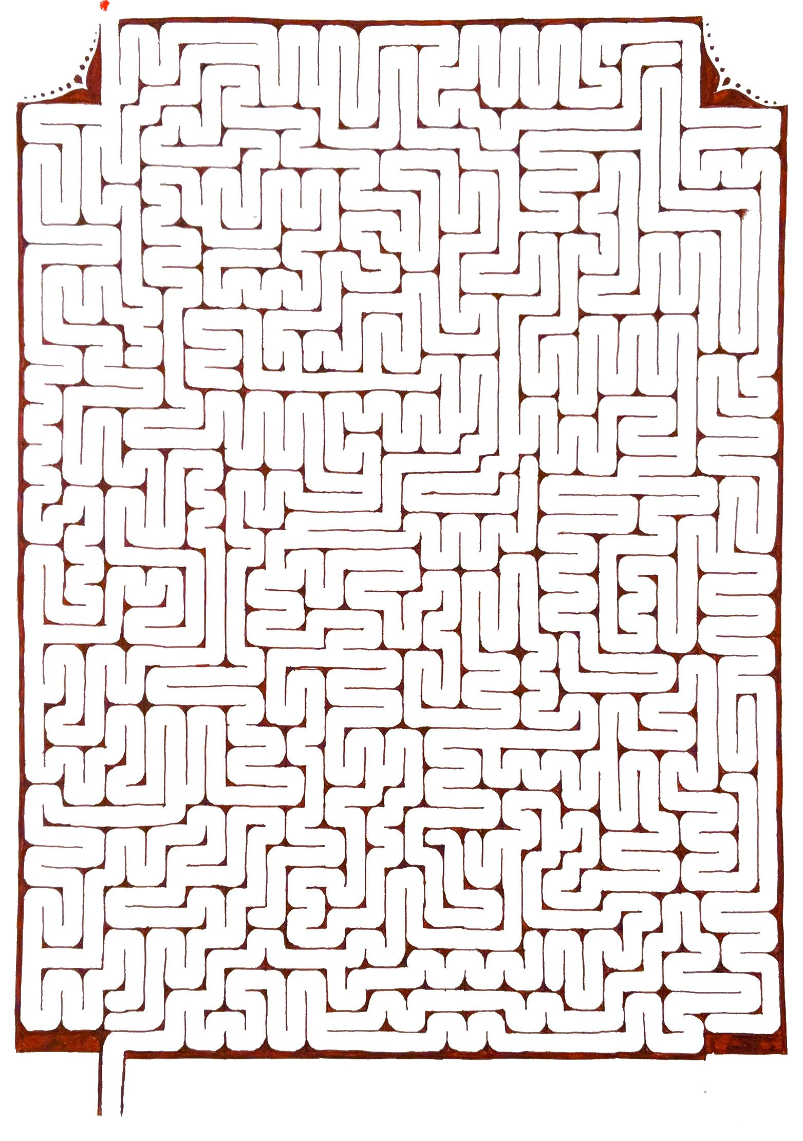 Finally Finished Another Maze Drawn With Moonman Mini