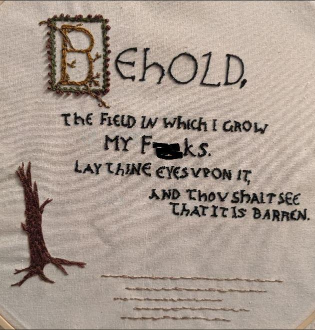 Behold My Variation On That Bayeux Tapestry Meme Embroidery