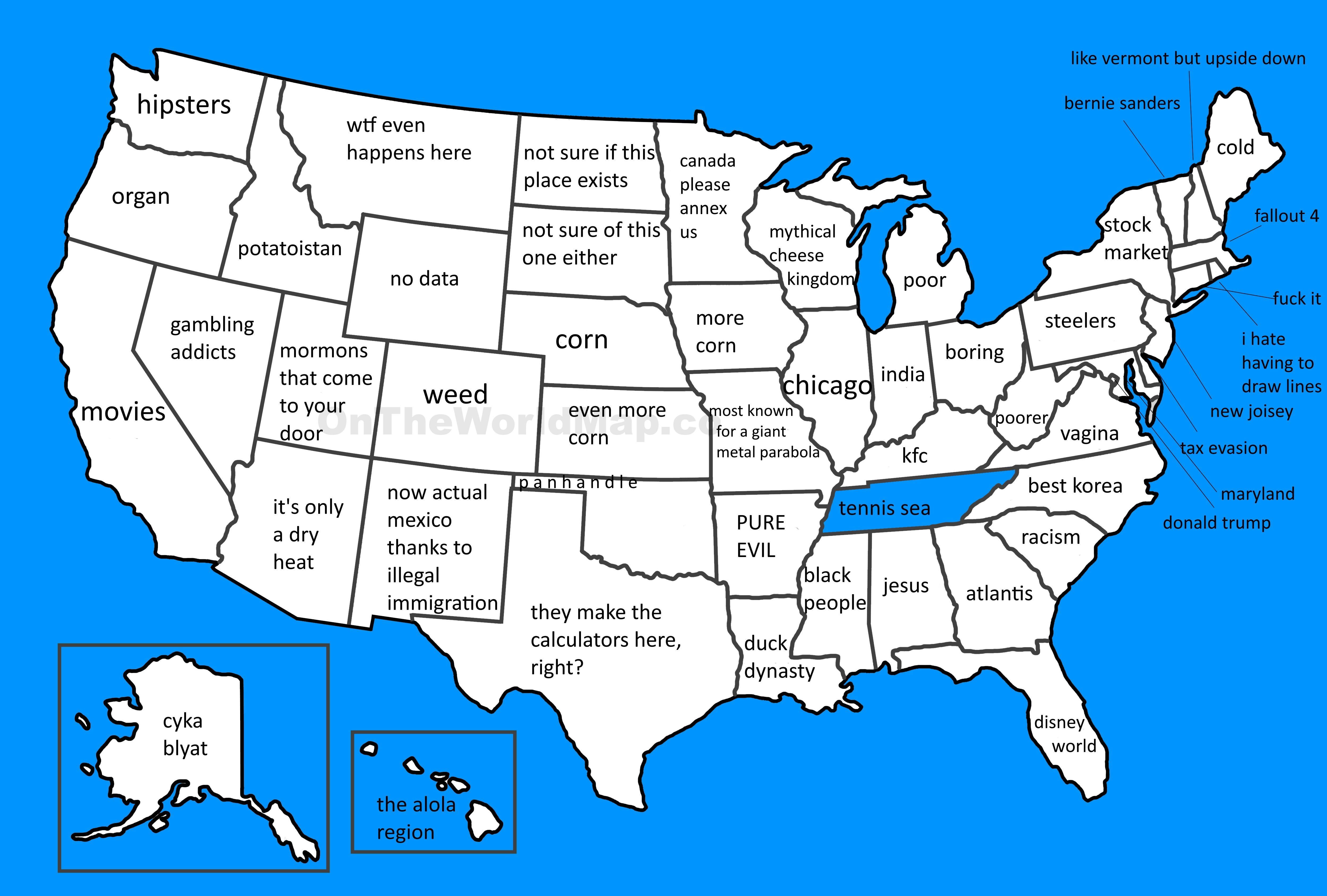 A More Accurate Map Of The United States Map Circlejerk
