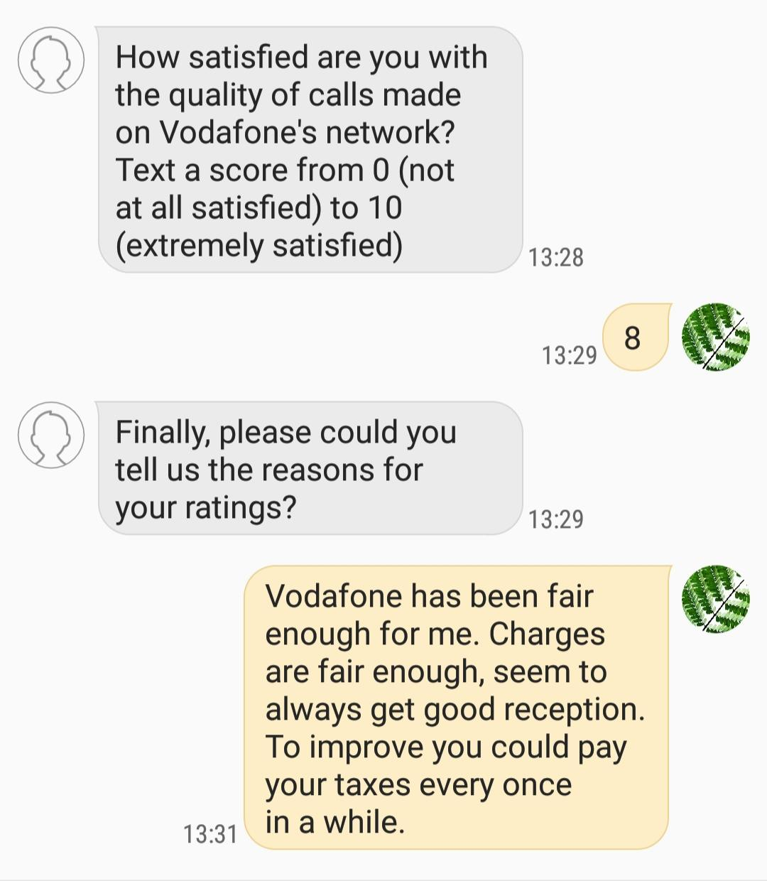 Vodafone Aked Me To Complete A Questionaire Truthully Memes