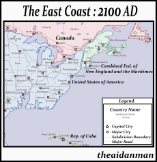 The East Coast Of America After A 60m Sea Level Rise I Might Do More On This World After This Map Imaginarymaps
