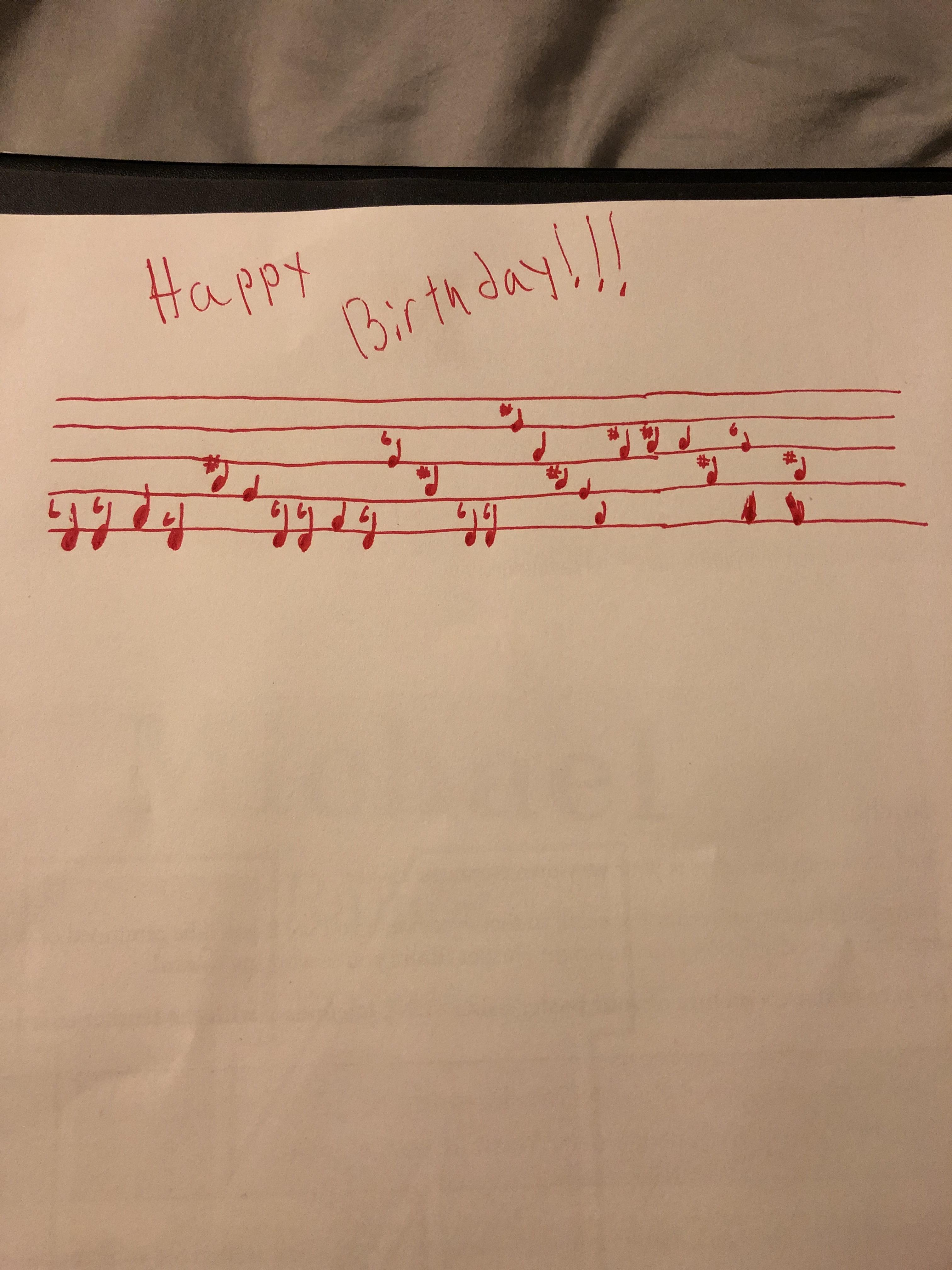 I Tried Making The Happy Birthday Song By Singing And Matching What I Sang With A Note On The Trumpet It S My First Time Doing Anything Like This What Do Y All Think