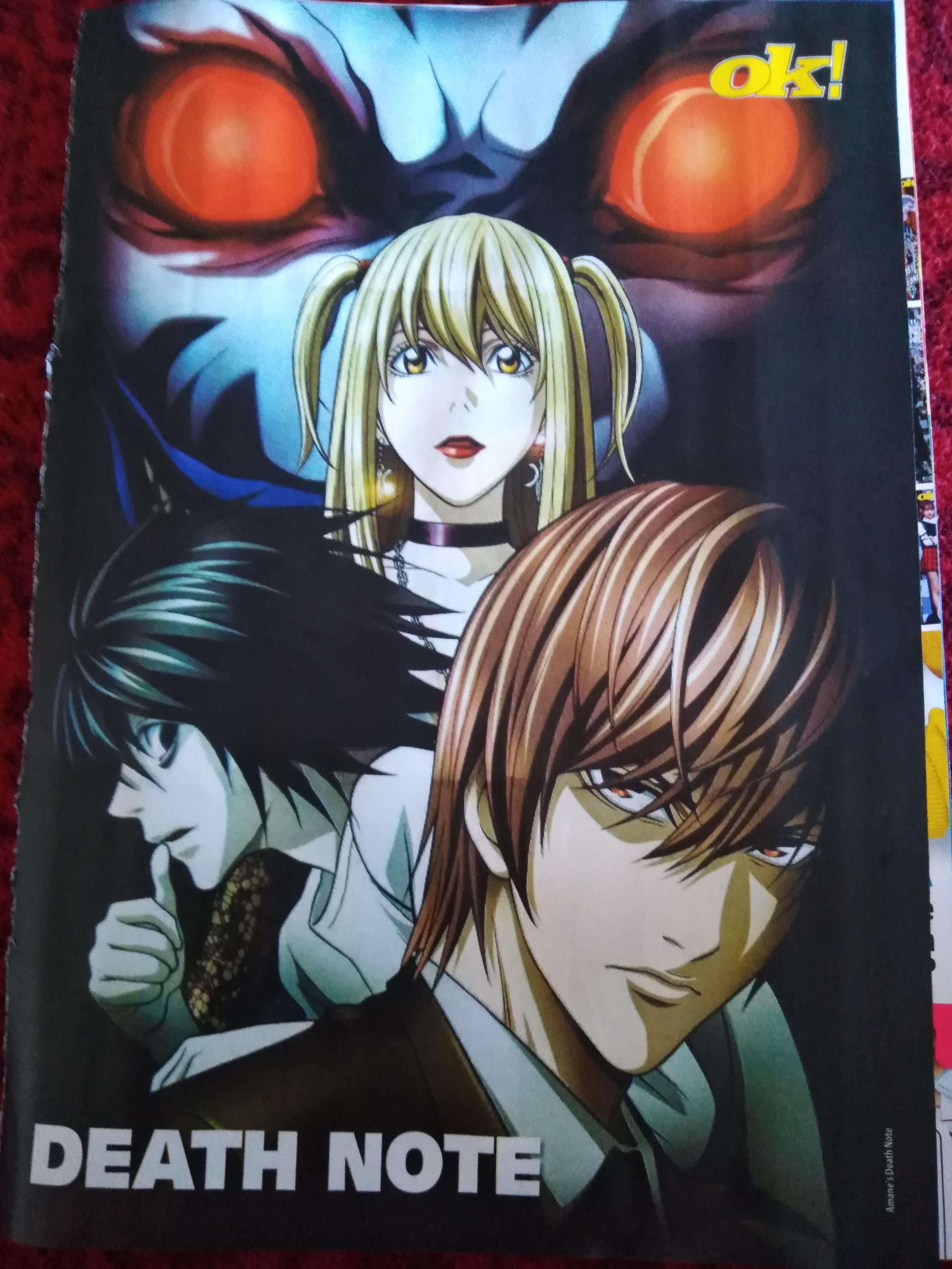 death note poster from croatian teen