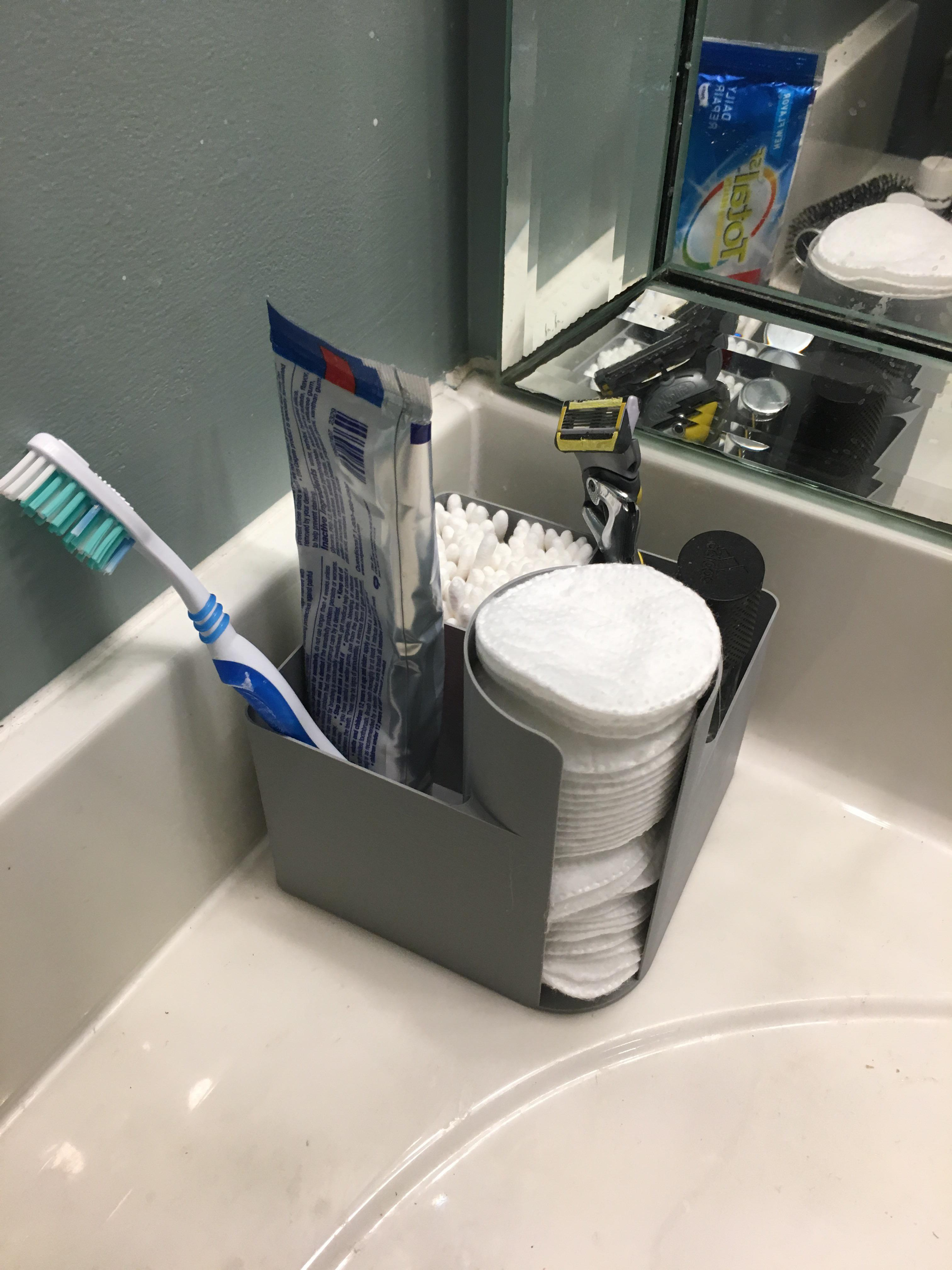 just a bathroom counter organizer but