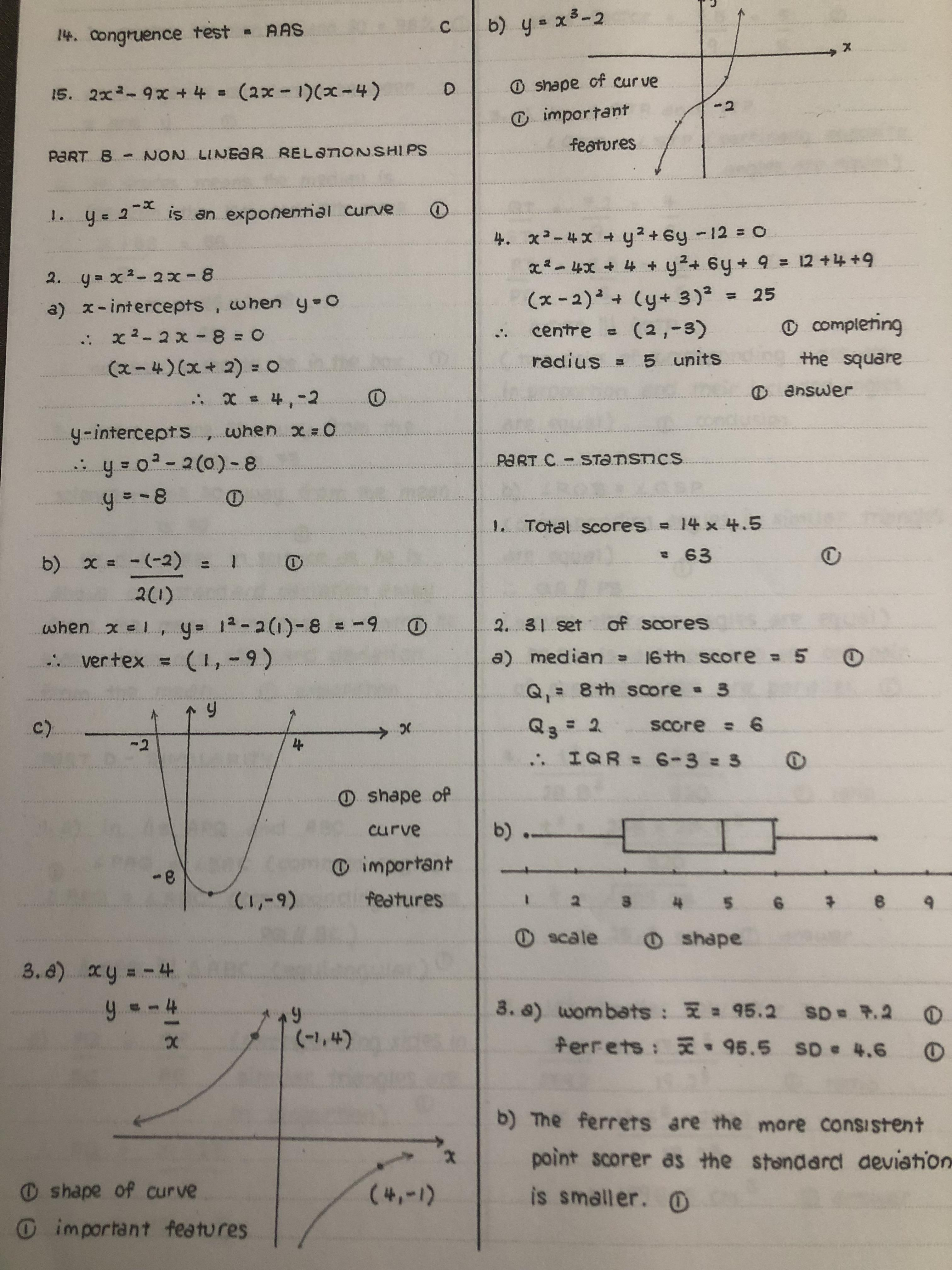 Math Teacher S Answer Sheet Penmanship