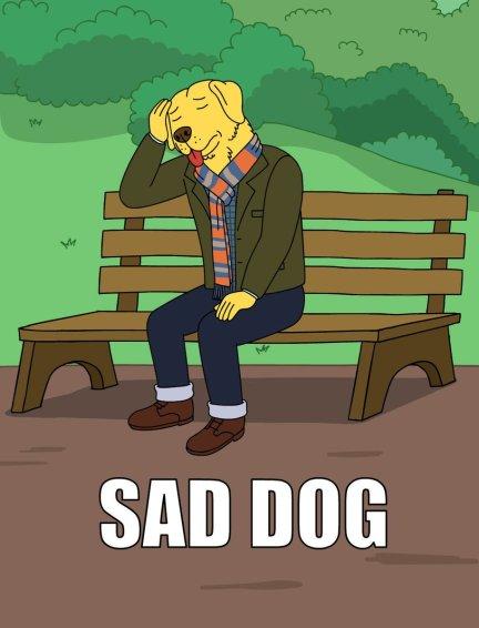 Sad Dog Meme: BojackHorseman