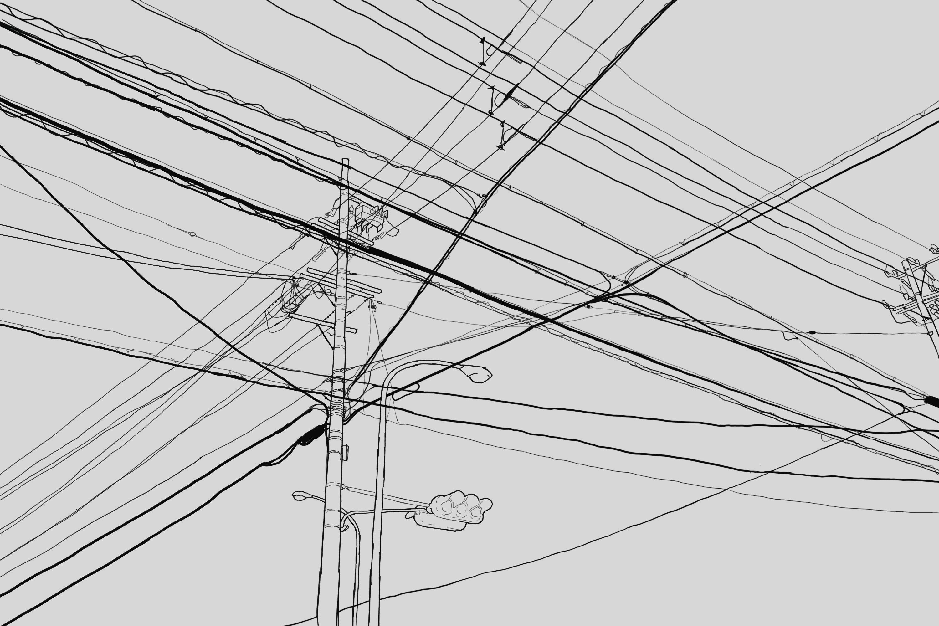 Power Lines Drawing
