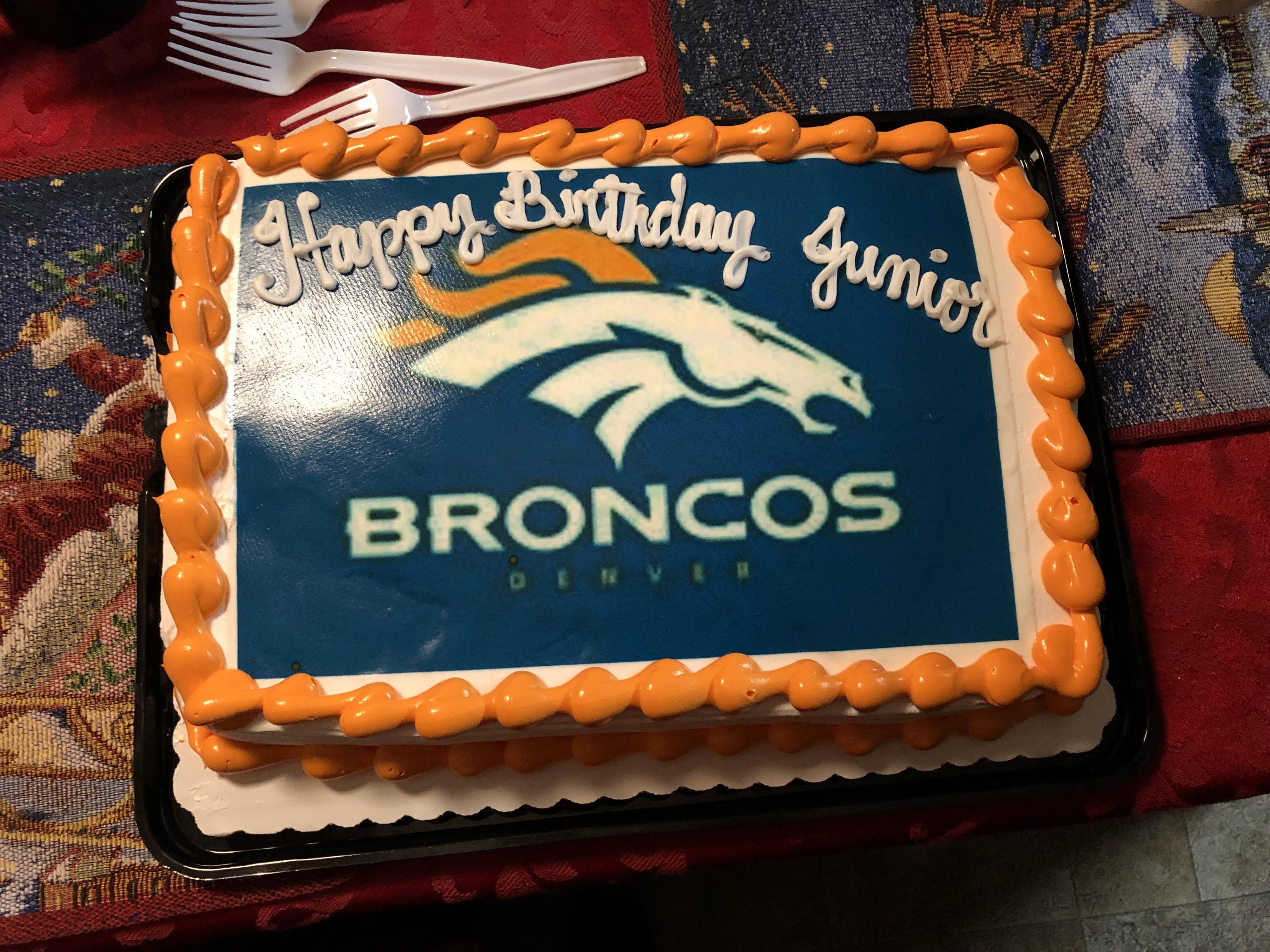 My Birthday Cake Today I Love It Denverbroncos