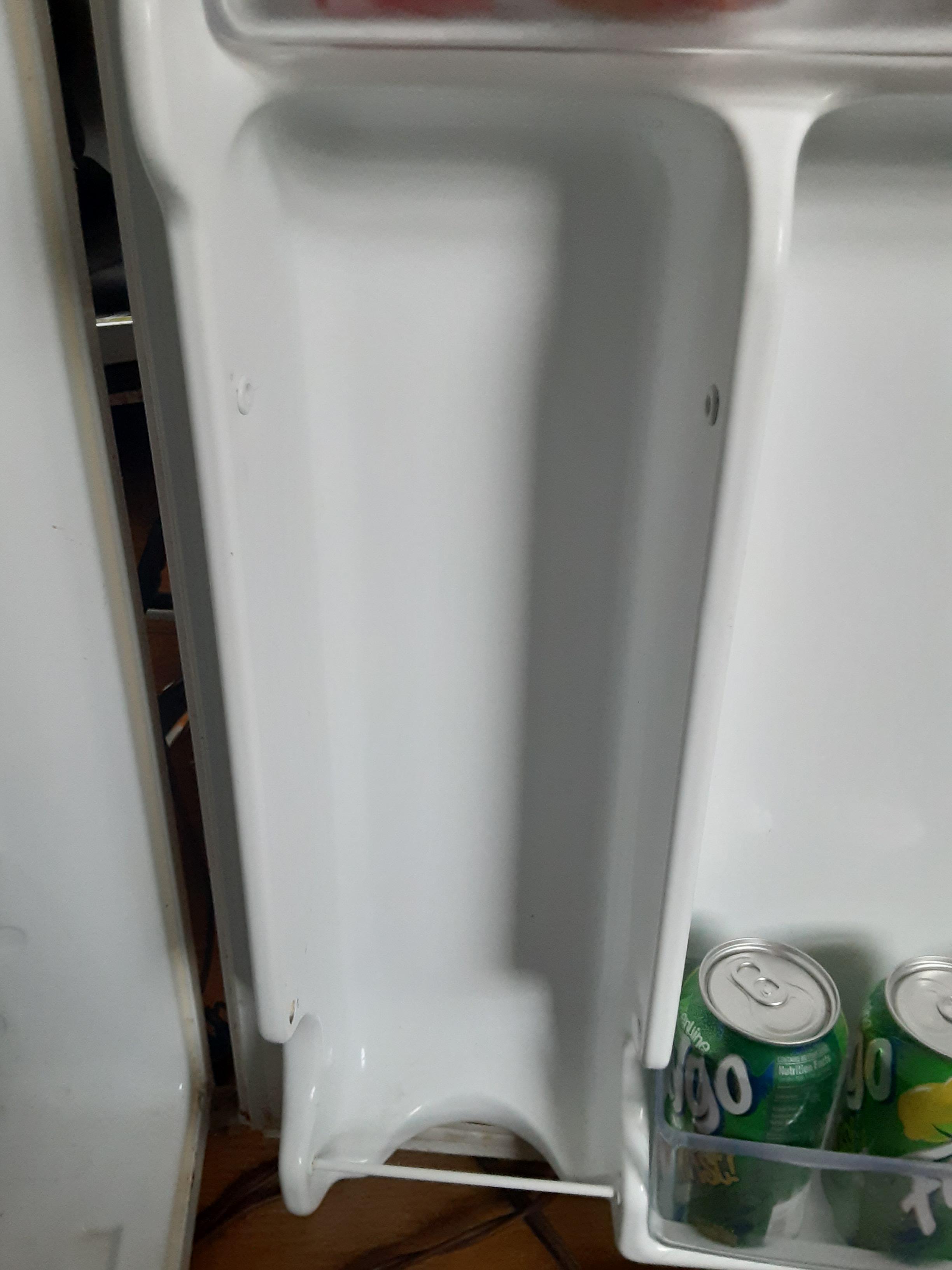soda holder bars on a ge mini fridge