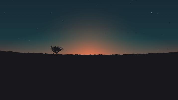 Minimal Sunset [3840×2160]