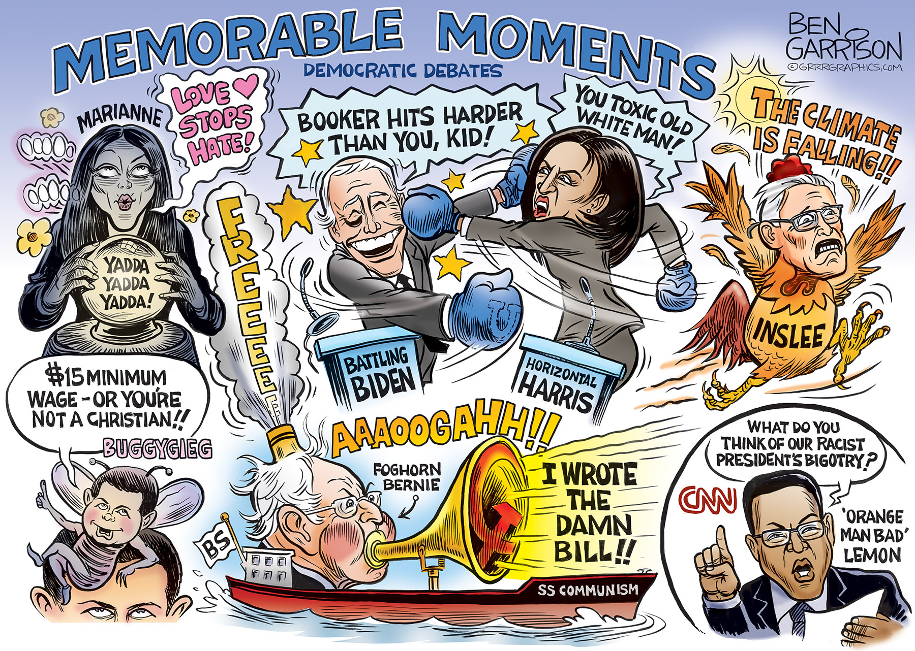 Democrats Debate Conservativecartoons