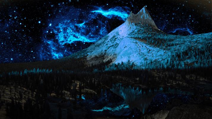[2560 x 1440] Mountain Night