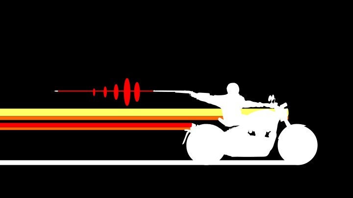 stylized motorcycle chase (3840 x 2160)