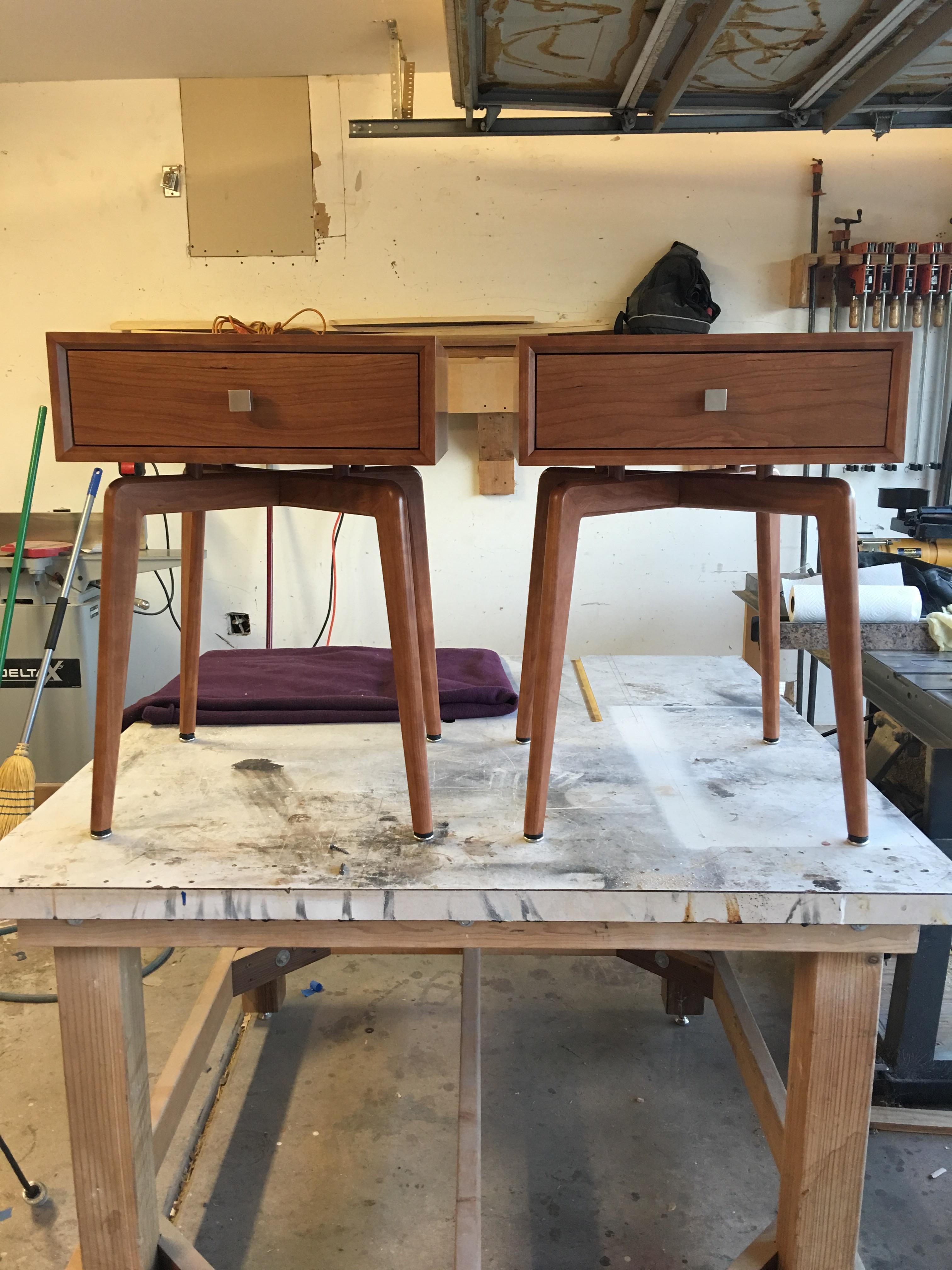 Mid Century Modern End Tables In Cherry Woodworking