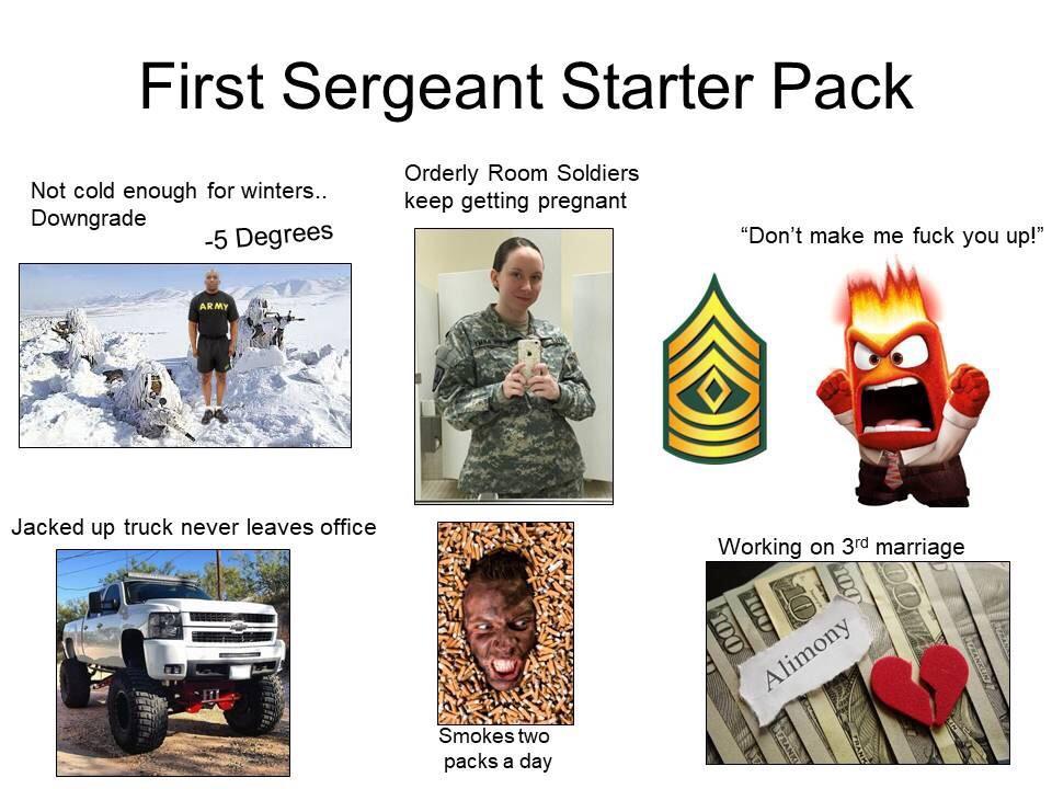 Army First Sergeant Starter Pack Starterpacks
