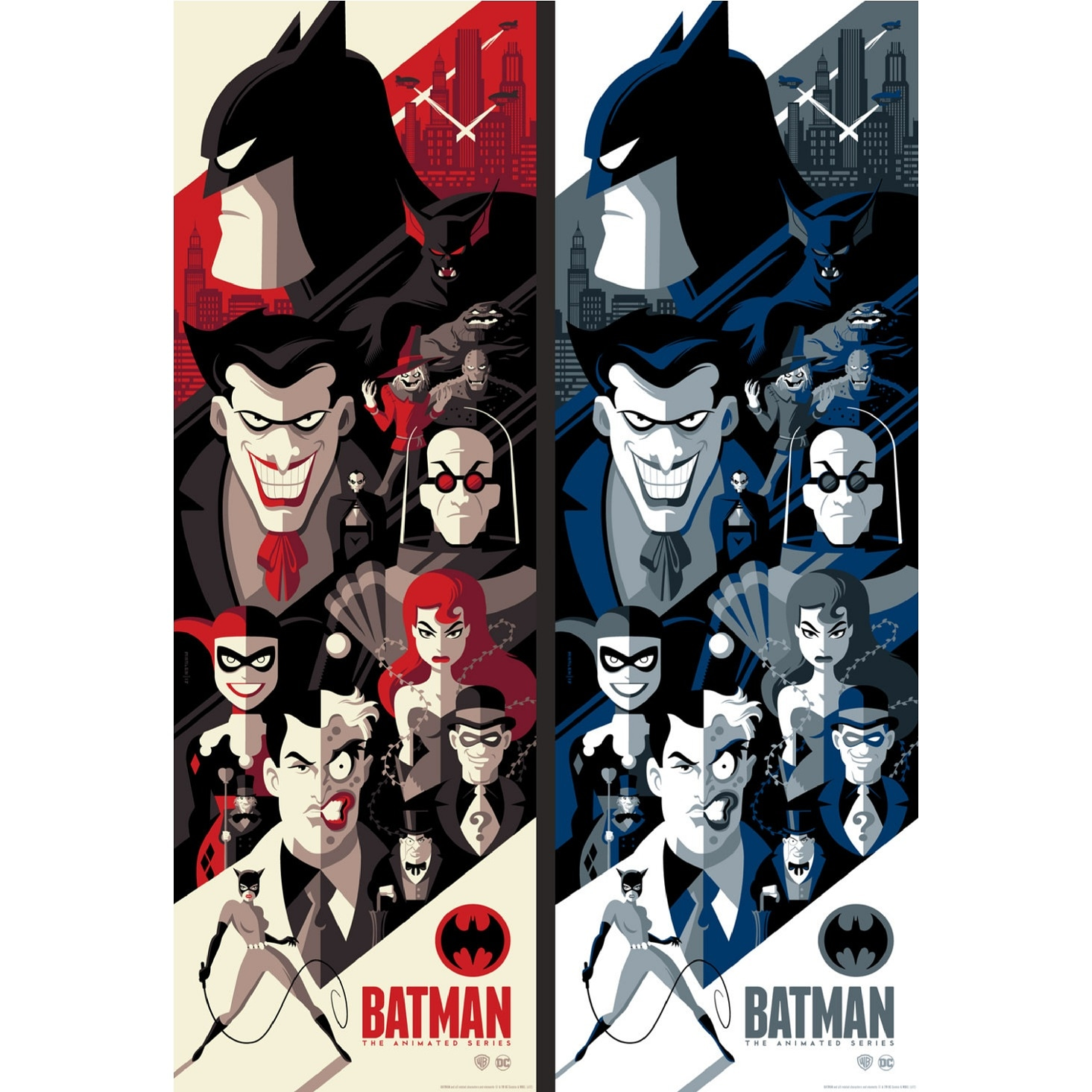 batman the animated series poster