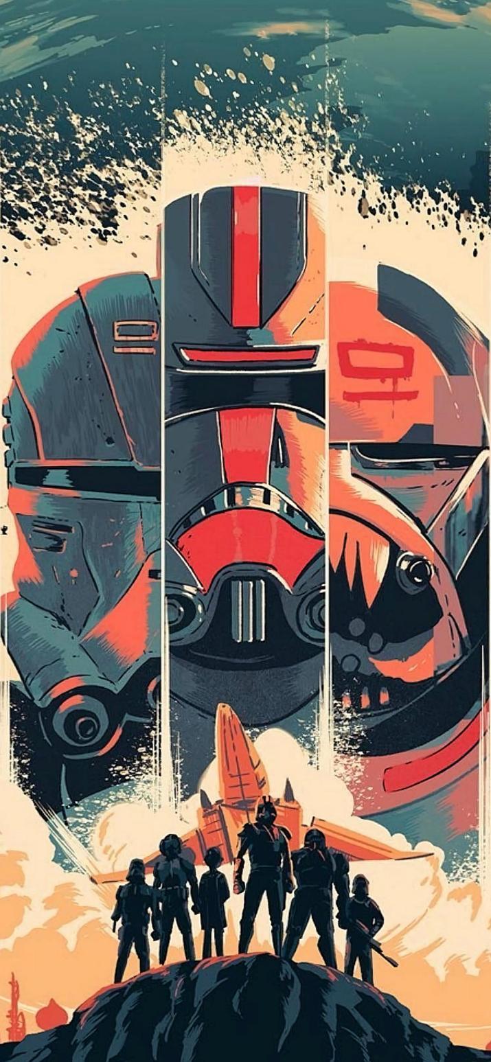 Star Wars, The Bad Batch wallpaper [1488×3221]