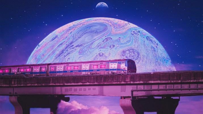 [3840×2160] Cosmic train