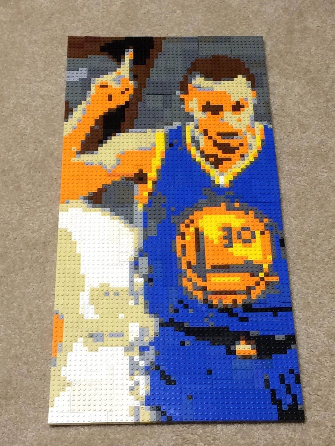 Steph Curry LEGO mosaic   lego MOCSteph Curry LEGO mosaic