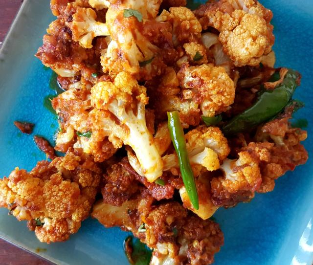 Traditional Indian Cauliflower Masala Spicy And Hot