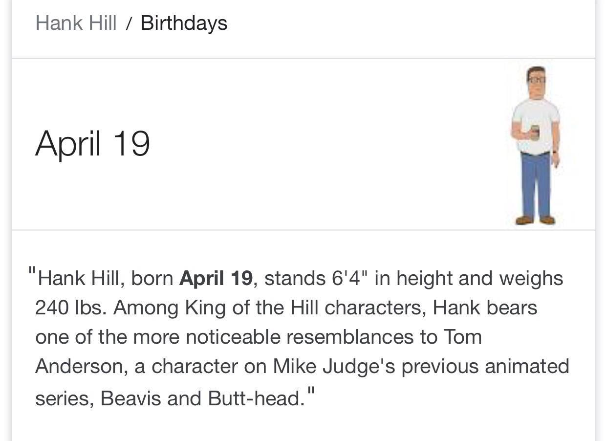 Someone S Got A Birthday I Wonder Who Kingofthehill