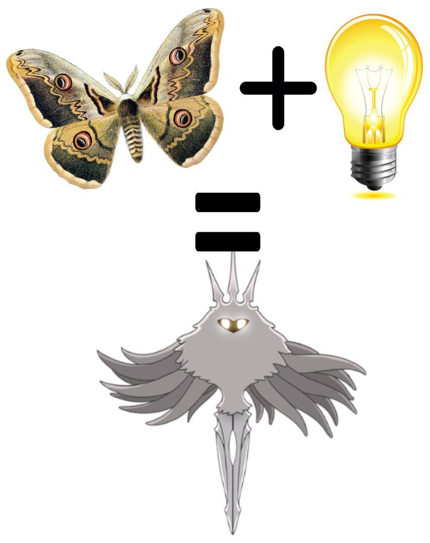W I Am A Fish Thinkin Abt Moths Golly I Sure Wish I Was Thinkin