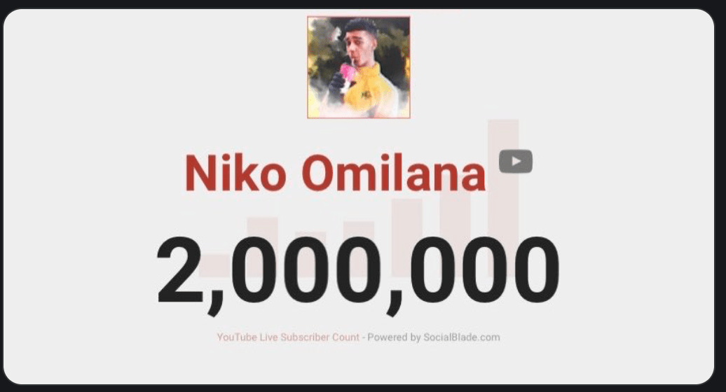 The Man Himself The Legend Niko Omilana Hits 2 Million Ksi