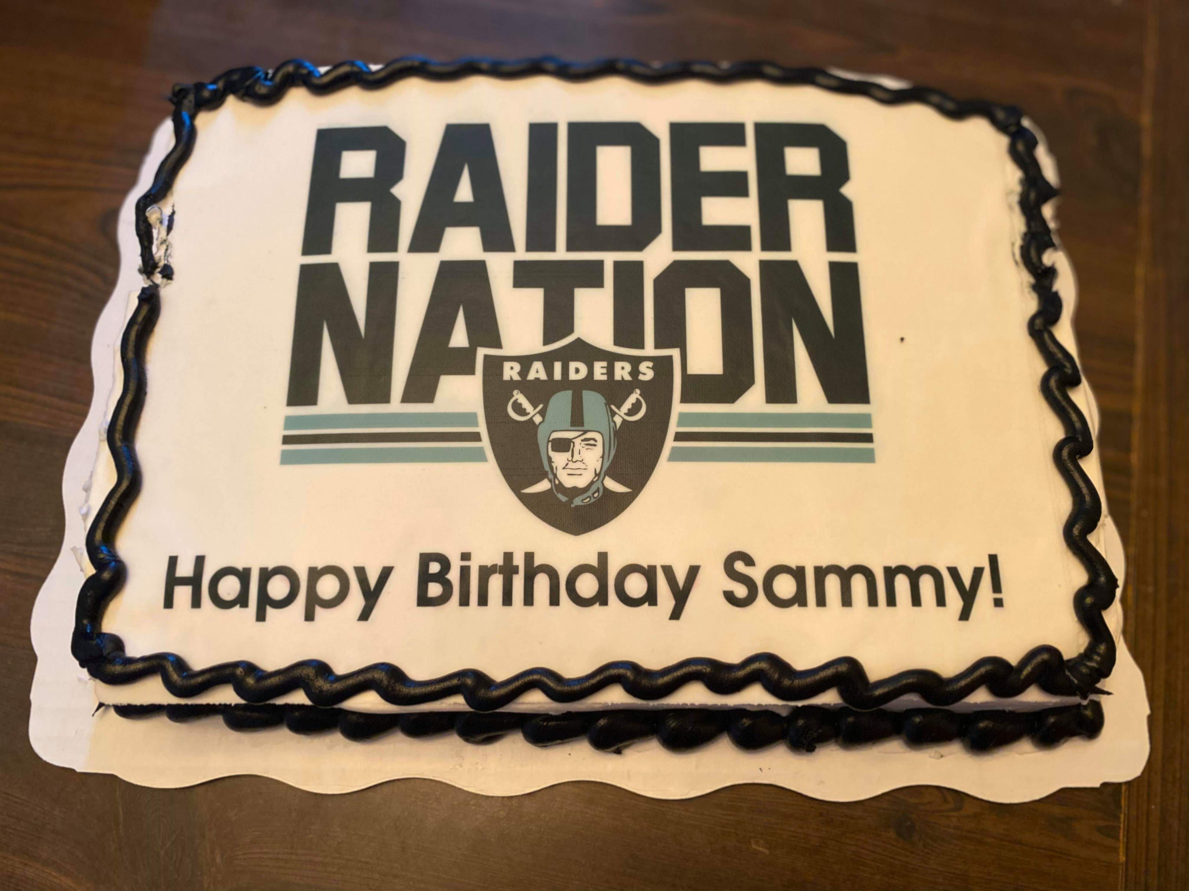 Birthday Cake My Wife Got Me Oaklandraiders