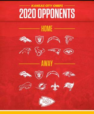 2020 Schedule for the Chiefs. : KansasCityChiefs