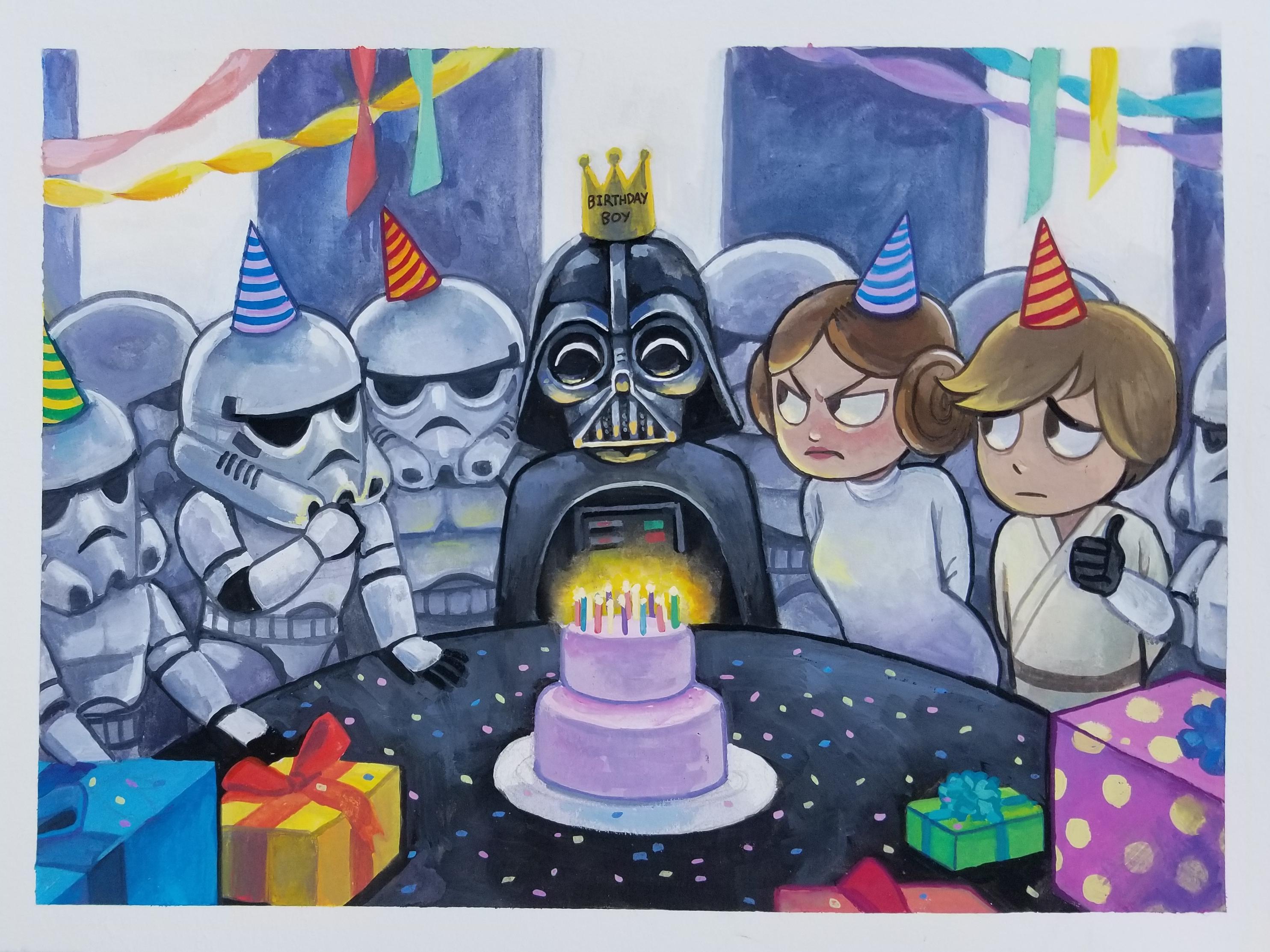 Darth Vader S Best Birthday Ever Starwars