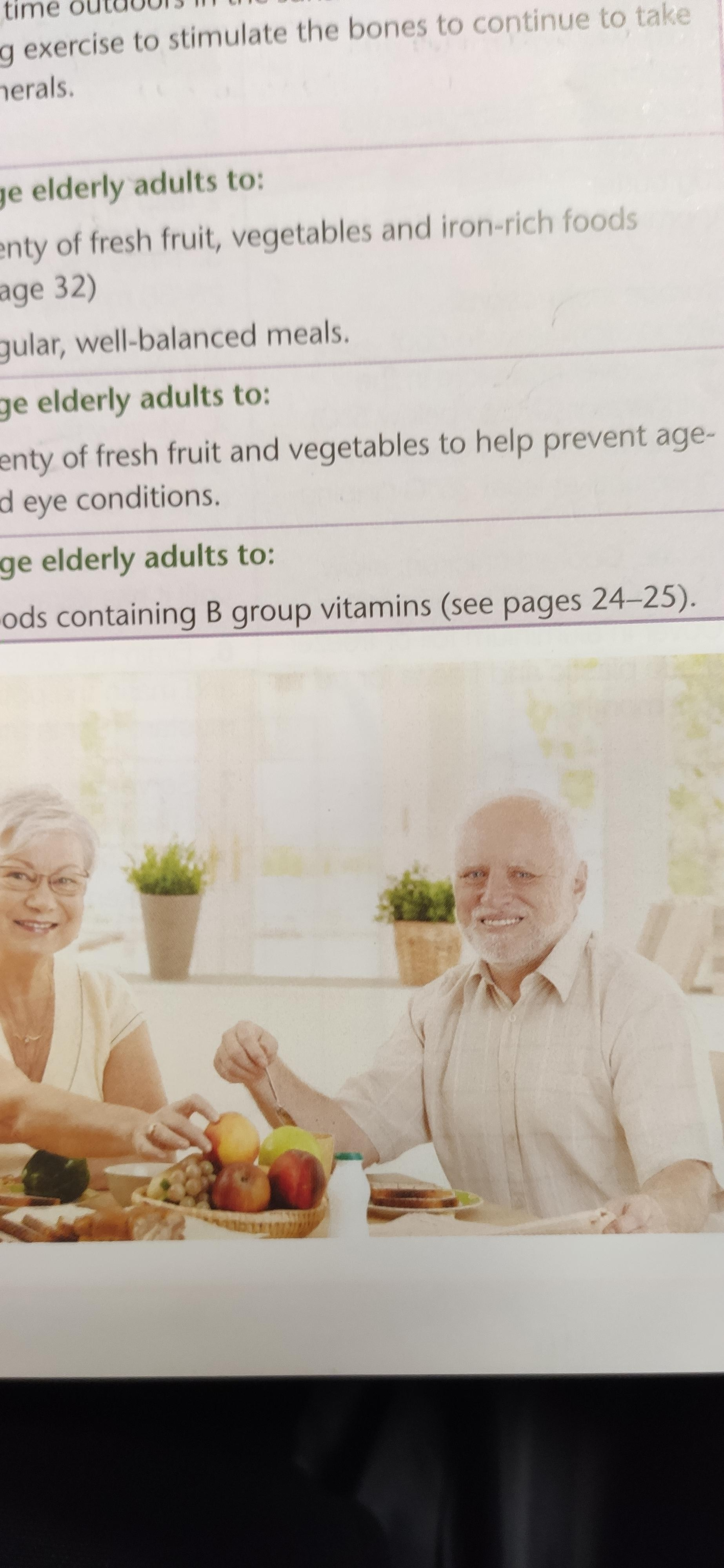 Hide The Pain Harold In A Food Technology Book Memes