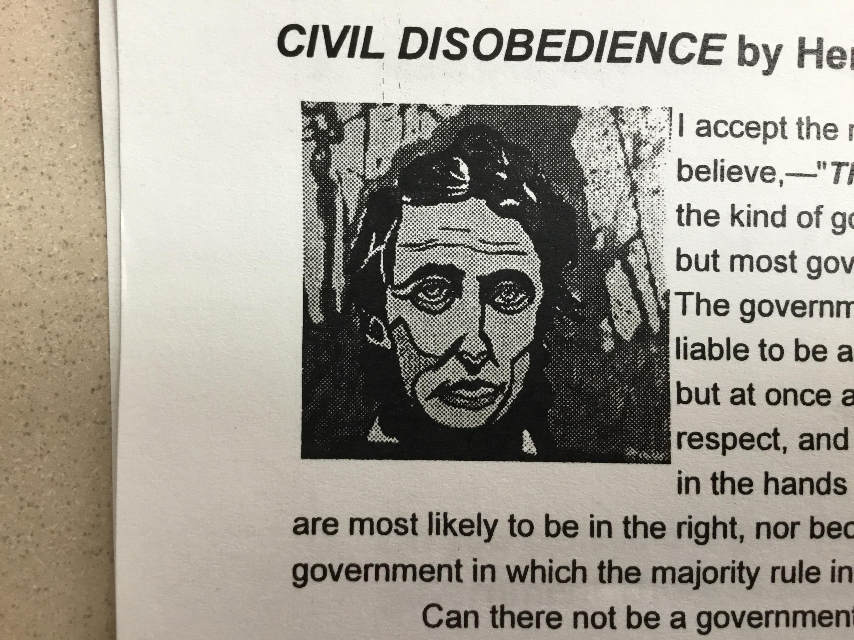 This Picture Of Abraham Lincoln On My English Worksheet