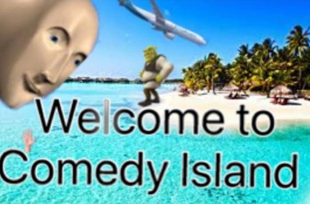 Welcome To Comedy Island Surreal Meme Man Shrek Plane Island