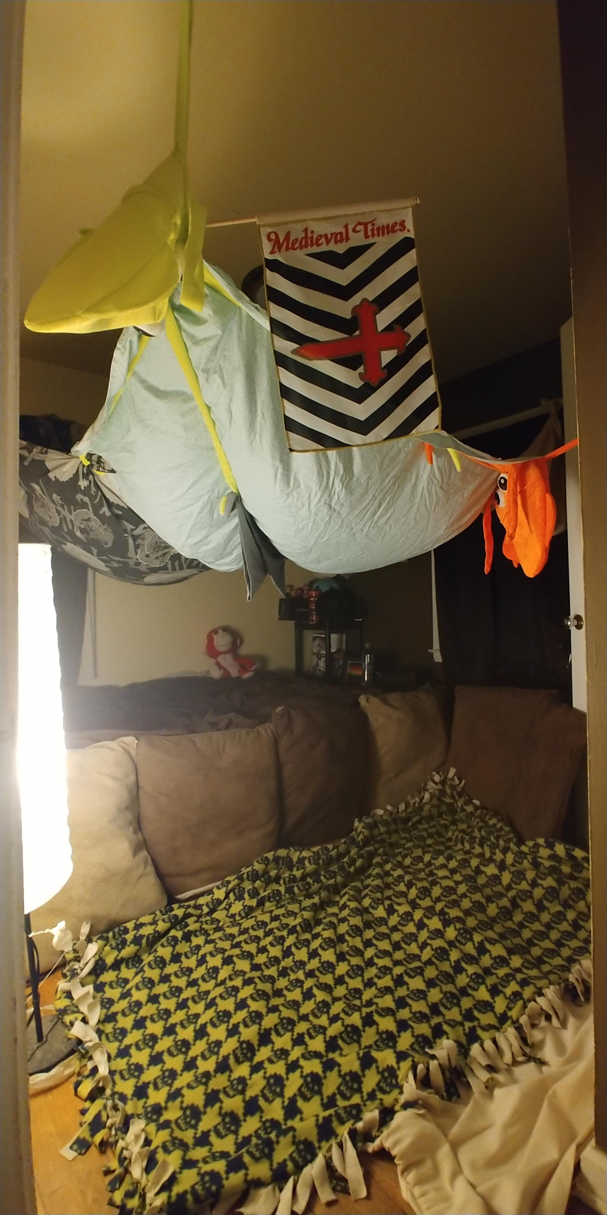 i decided to make a pillow fort d pics