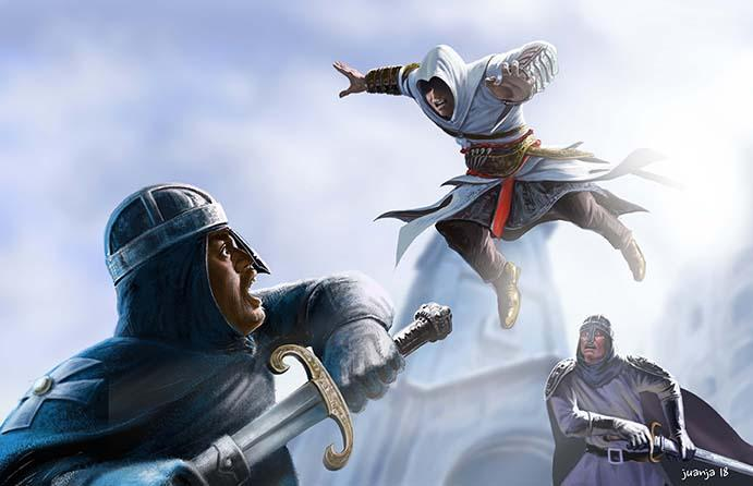 My plate # 2 digital art for Assassin Creed altair. : assassinscreed