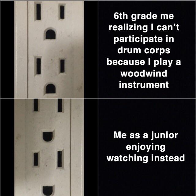 Decided To Create My Own Meme Format With A Power Strip Marchingband