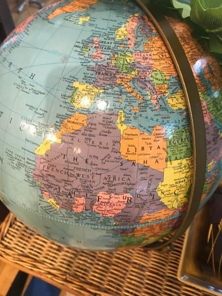 Great old globe found in a thrift store in Asbury Park  NJ   MapPorn Great old globe found in a thrift store in Asbury Park