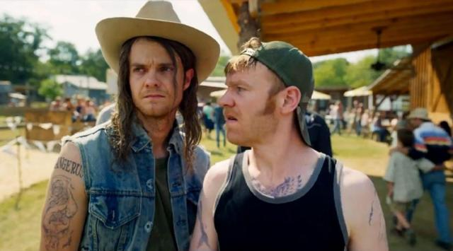 In Logan Lucky One Of The Bang Brothers Has A Tattoo On His Arm That Says Dangerus