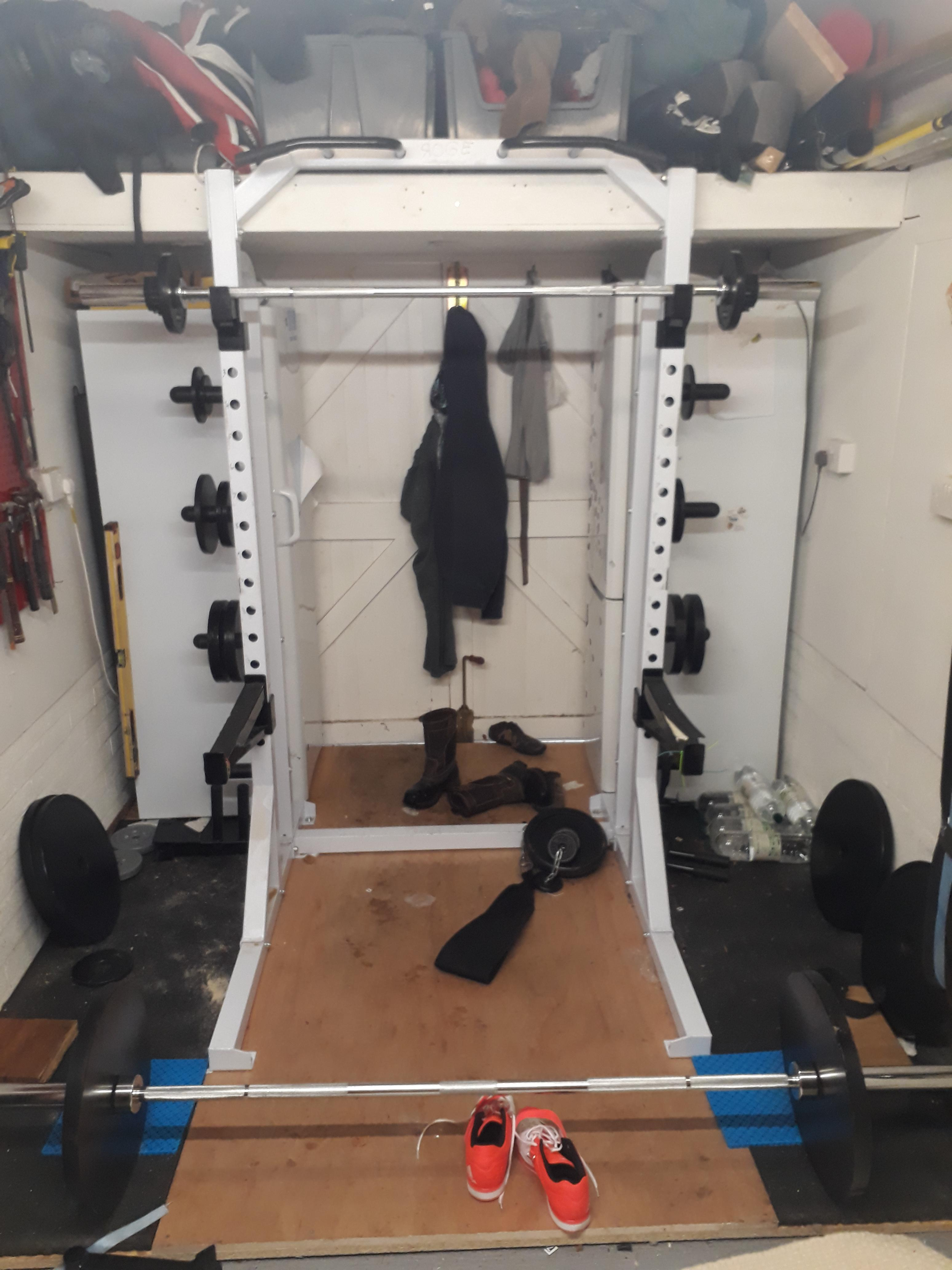 Home Gym In Small Uk Garage Homegym
