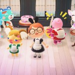 Maid Dresses Were Available In My Able S Today Didn T Have Enough Female Villagers So I Recruited Julian Marshal For Our Maid Cafe Animalcrossing