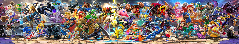 super smash bros ultimate roster poster