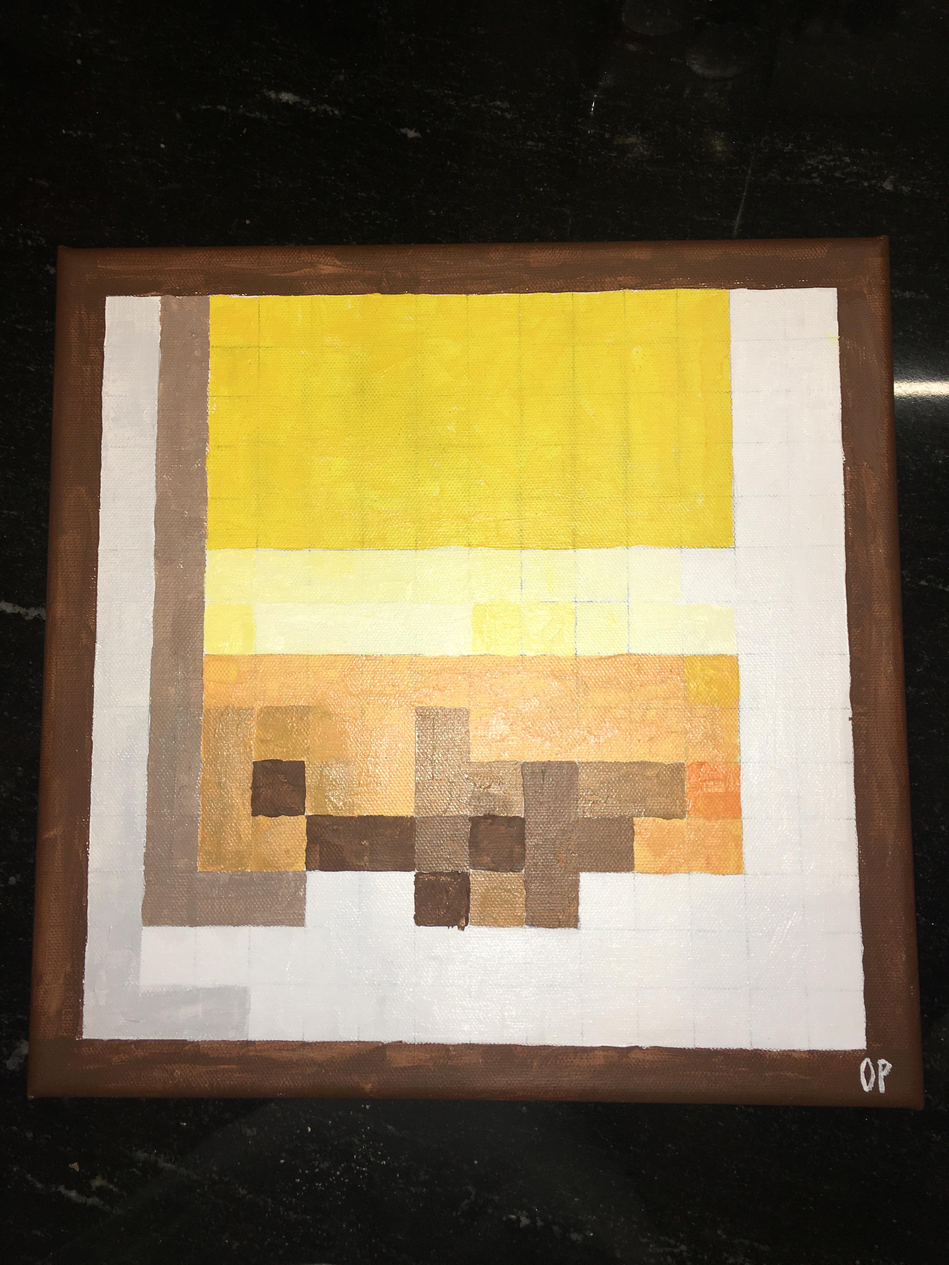 original minecraft paintings irl