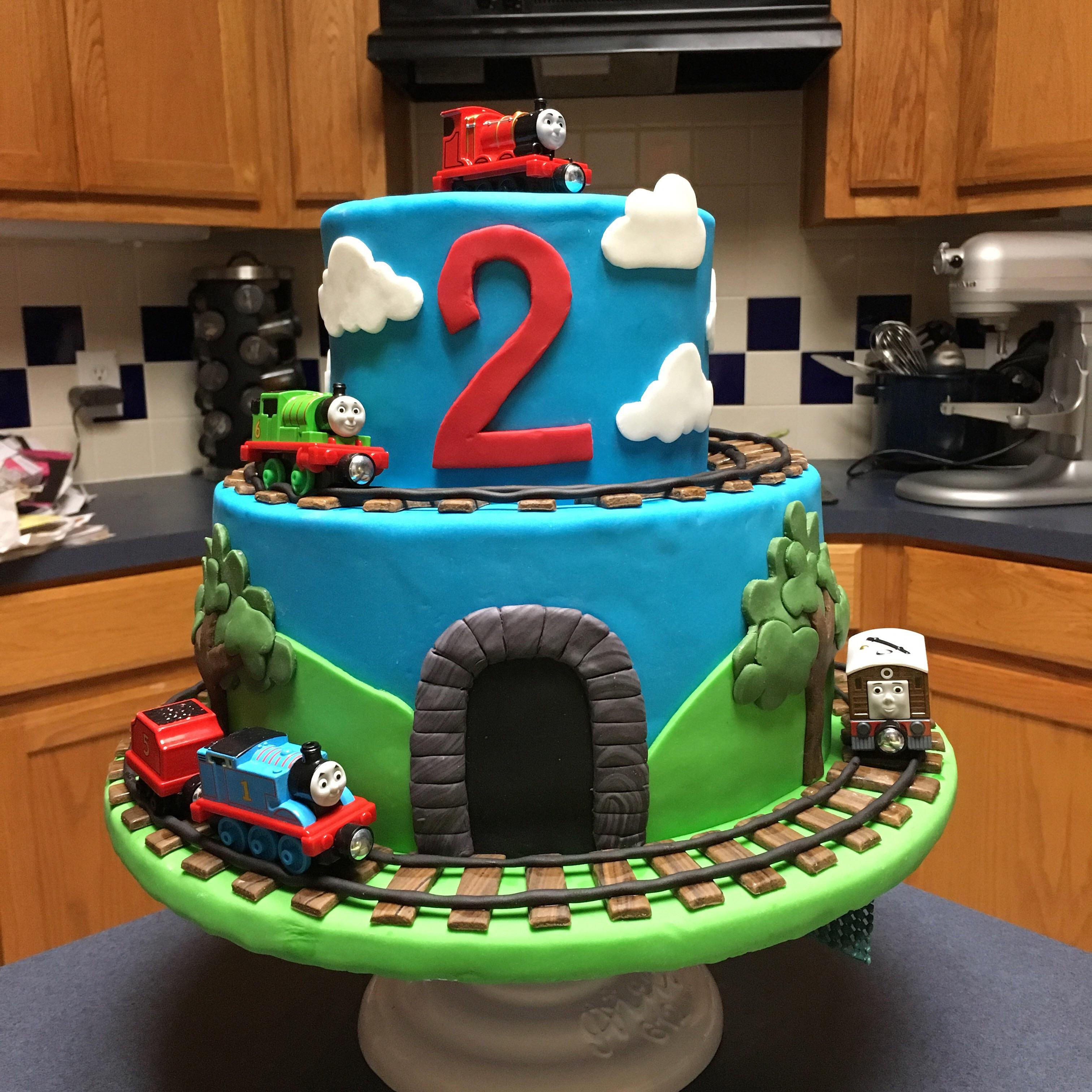 Thomas The Train Cake I Made For My Son S 2nd Birthday Baking