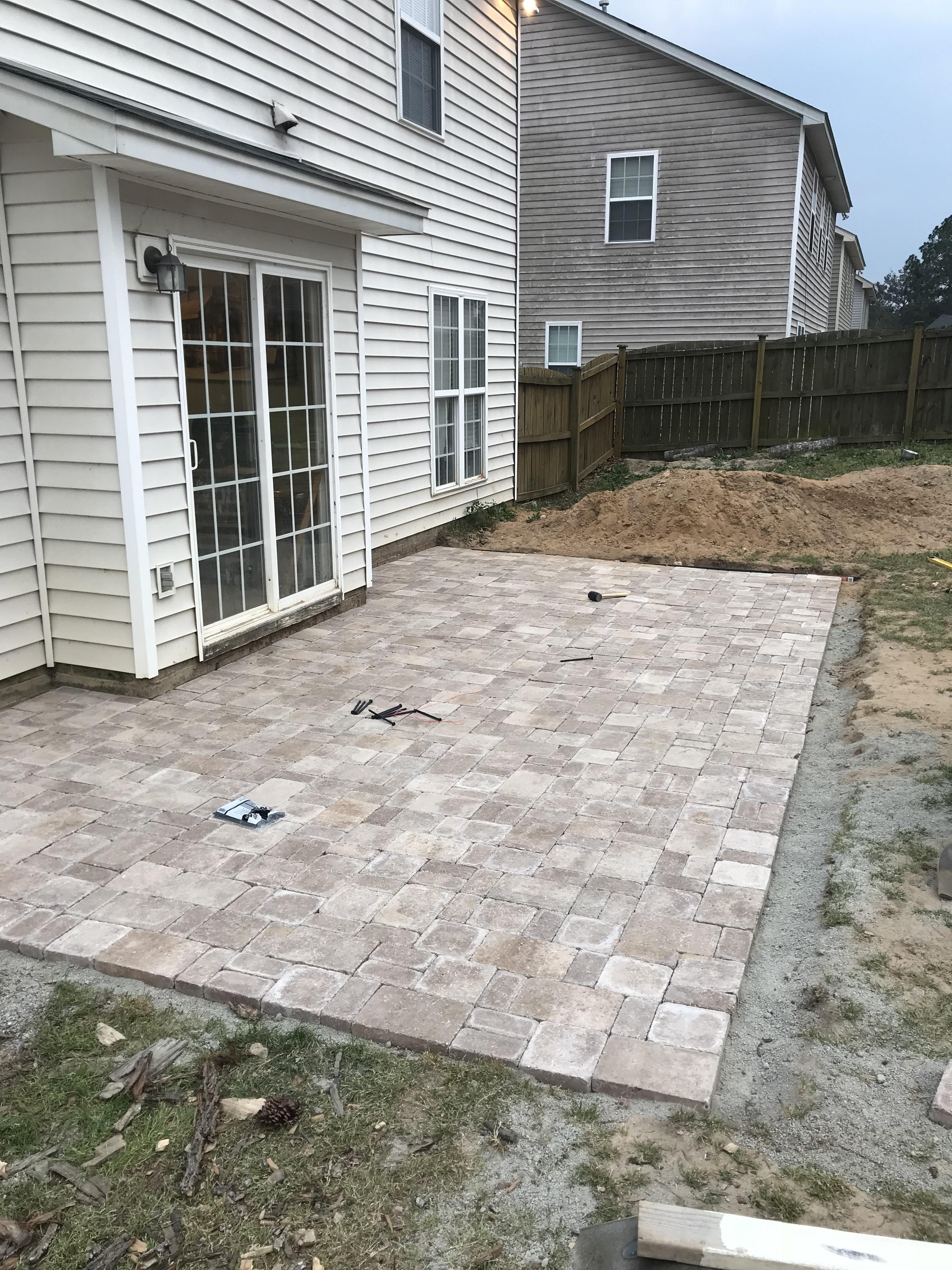 paver patio just need to add edging