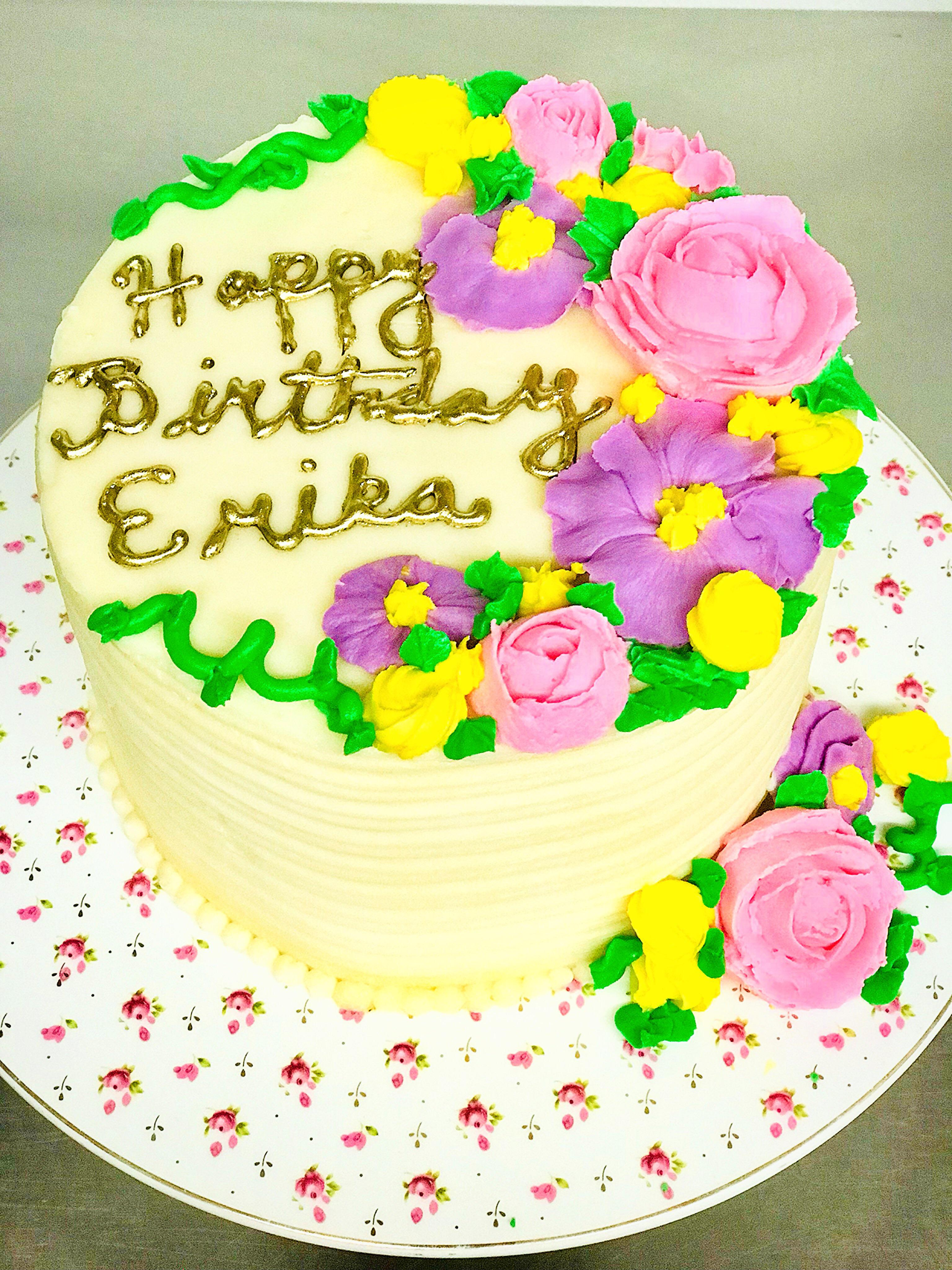 Made A Cute Bday Cake At Work Today Happy Birthday Erika Baking